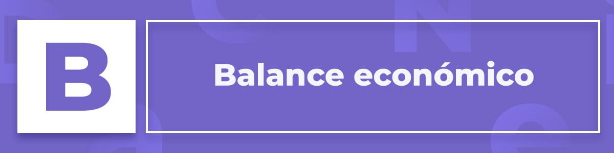 Qué es el balance económico